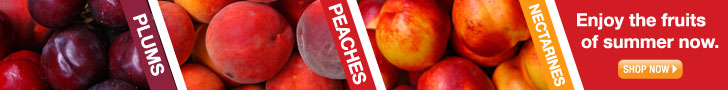 stone fruit horizontal web banner